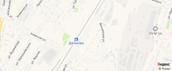 Вокзальная улица на карте железнодорожной станции Малыгина с номерами домов