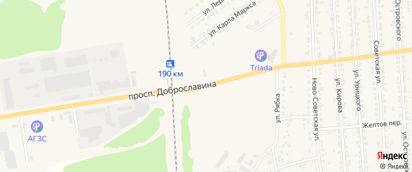 Проспект Доброславина на карте Дятьково с номерами домов