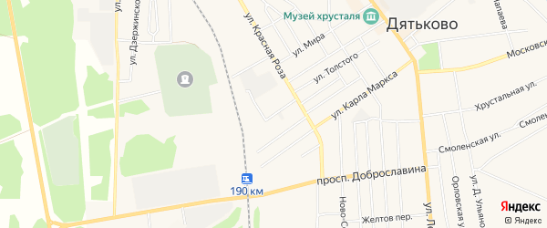 ГСК ГО в районе ул Энергетическая на карте Дятьково с номерами домов