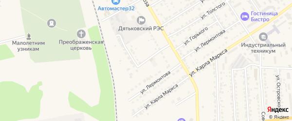 Энергетическая улица на карте Дятьково с номерами домов