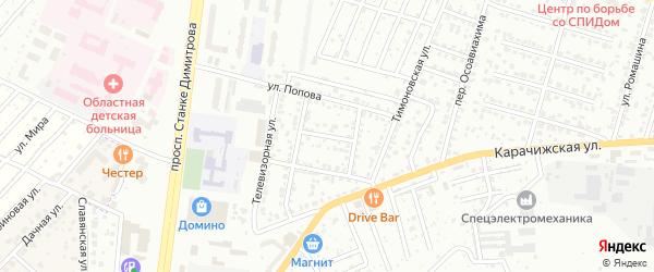 Переулок Попова на карте Брянска с номерами домов