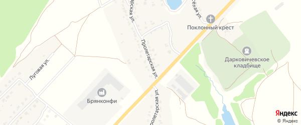 Пролетарская улица на карте села Дарковичи с номерами домов
