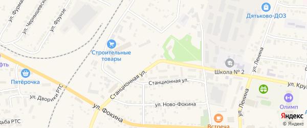 Станционная улица на карте Дятьково с номерами домов