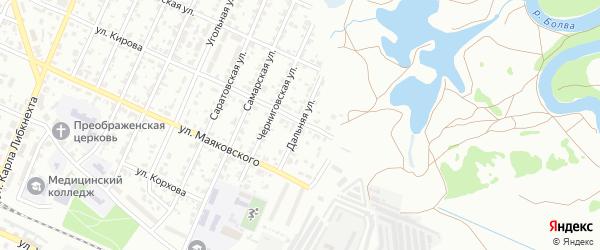 Дальняя улица на карте Брянска с номерами домов