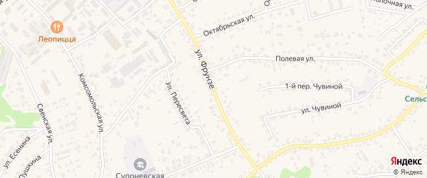 Улица Фрунзе на карте села Супонево с номерами домов
