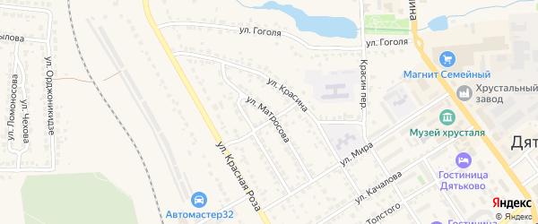 Улица Матросова на карте Дятьково с номерами домов