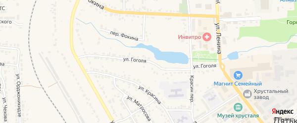 Улица Гоголя на карте Дятьково с номерами домов