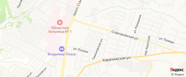 Территория СО Дормаш-1 на карте Брянска с номерами домов