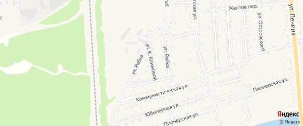 Улица К.Климовой на карте Дятьково с номерами домов