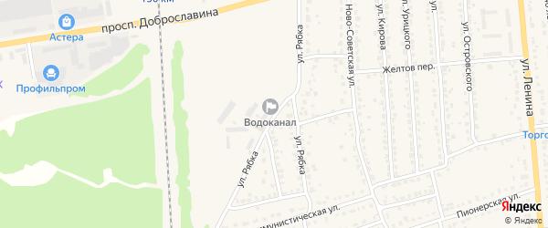 Улица Рябка на карте Дятьково с номерами домов
