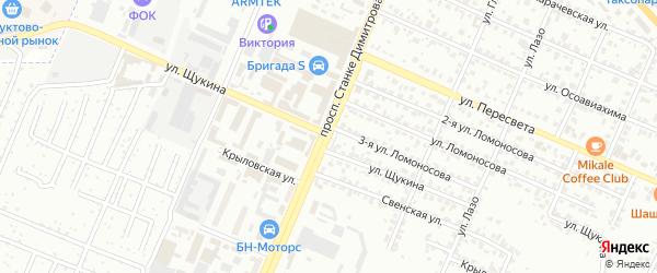 Проспект Станке Димитрова на карте Брянска с номерами домов