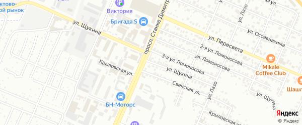Улица Щукина на карте Брянска с номерами домов