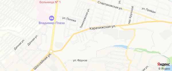 Территория СО Прогресс на карте Брянска с номерами домов