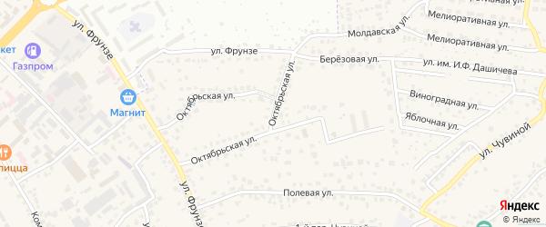 Октябрьская улица на карте села Супонево с номерами домов