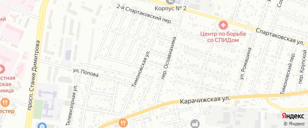 3-й Тимоновский проезд на карте Брянска с номерами домов