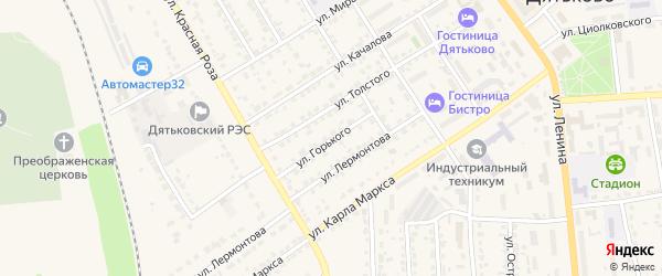 Улица Горького на карте Дятьково с номерами домов