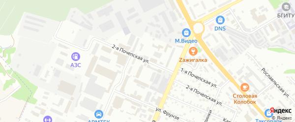 2-я Почепская улица на карте Брянска с номерами домов