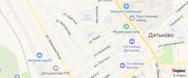 Улица Мира на карте Дятьково с номерами домов