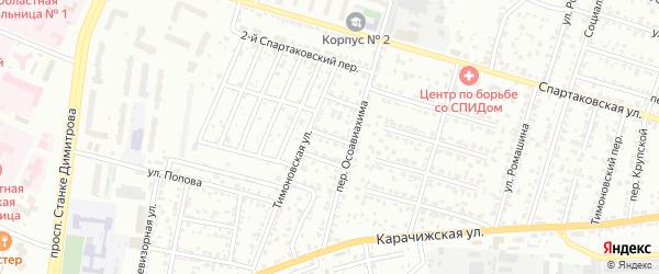 2-й Тимоновский проезд на карте Брянска с номерами домов
