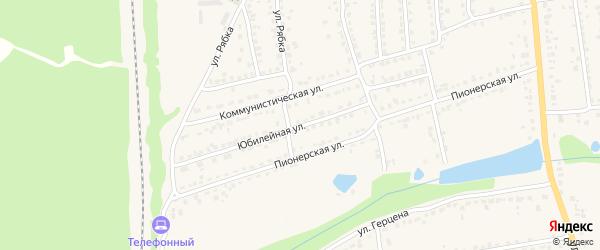 Юбилейная улица на карте Дятьково с номерами домов