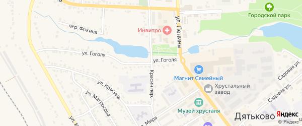 Переулок Красина на карте Дятьково с номерами домов