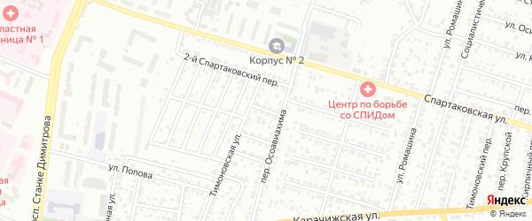 1-й Тимоновский проезд на карте Брянска с номерами домов