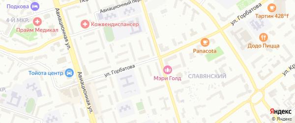 Улица Горбатова на карте Брянска с номерами домов
