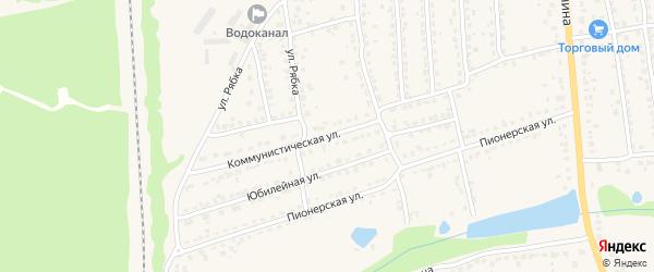 Коммунистическая улица на карте Дятьково с номерами домов