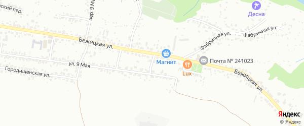 Клубный переулок на карте Брянска с номерами домов
