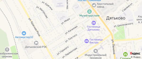 Улица Качалова на карте Дятьково с номерами домов