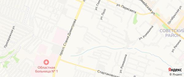 Территория СО Дормаш-2 на карте Брянска с номерами домов