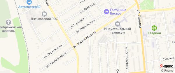 Территория ГО в районе ул К.Маркса на карте Дятьково с номерами домов