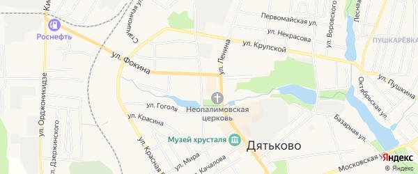 ГСК ГБ во дворе дома 187 по ул.Ленина на карте Дятьково с номерами домов