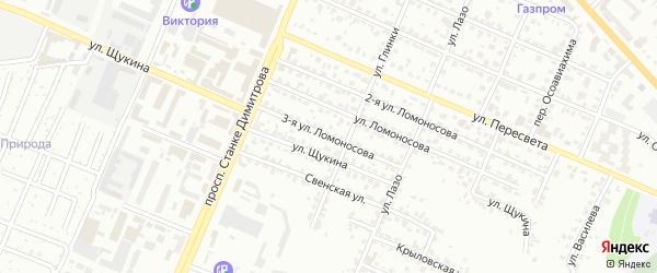 Улица 3-я Ломоносова на карте Брянска с номерами домов