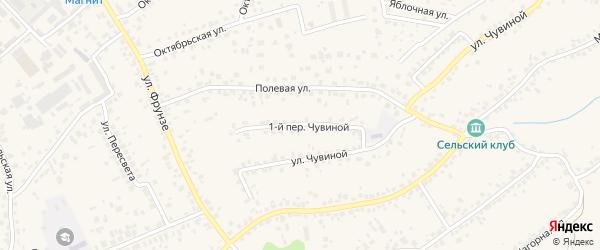 1-й Чувиной переулок на карте села Супонево с номерами домов