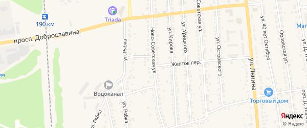 Ново-Советская улица на карте Дятьково с номерами домов