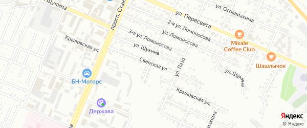 Свенская улица на карте Брянска с номерами домов
