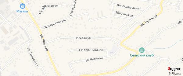 Полевая улица на карте села Супонево с номерами домов
