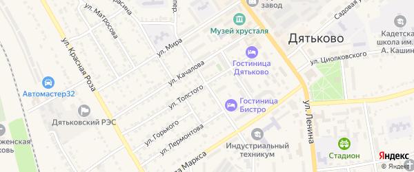 Переулок К.Маркса на карте Дятьково с номерами домов