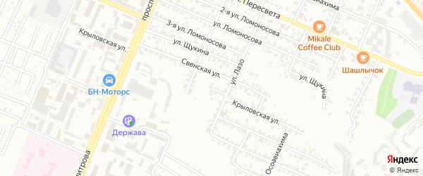 Крыловская улица на карте Брянска с номерами домов