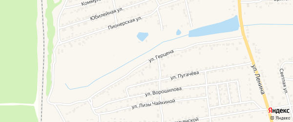 Улица Герцена на карте Дятьково с номерами домов