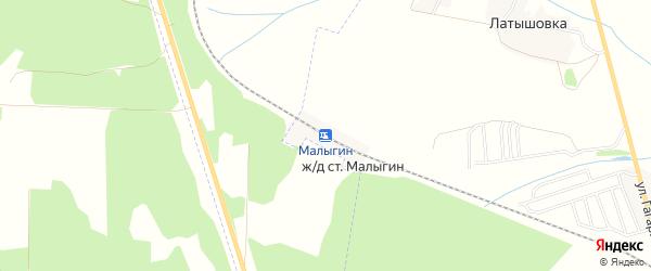 Карта железнодорожной станции Малыгина в Брянской области с улицами и номерами домов