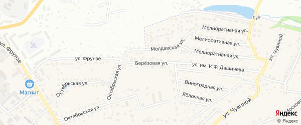 Березовая улица на карте села Супонево с номерами домов