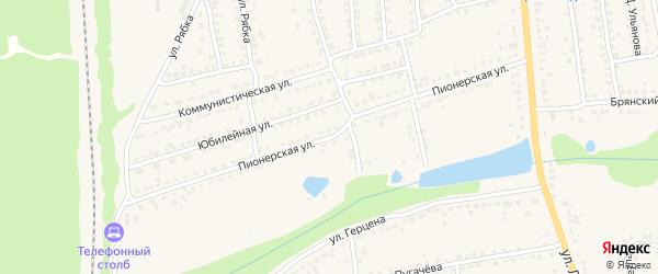 Пионерская улица на карте Дятьково с номерами домов