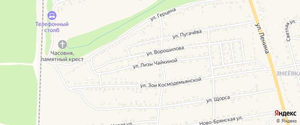 Улица Л.Чайкиной на карте Дятьково с номерами домов