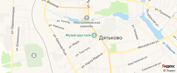 ГСК ГБ во дворе дома 3 по ул Мира на карте Дятьково с номерами домов