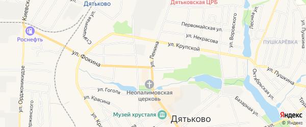 ГСК ГБ во дворе дома 192 по ул.Ленина на карте Дятьково с номерами домов