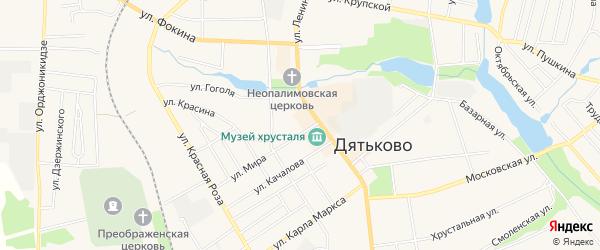 ГСК ГБ во дворе дома 4 по ул.Мира на карте Дятьково с номерами домов