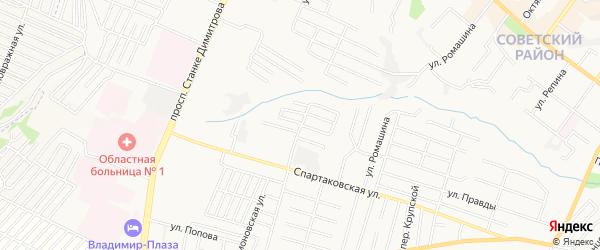 Территория СО Родина на карте Брянска с номерами домов
