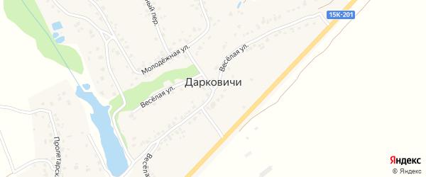 Улица Машиностроителей на карте села Дарковичи с номерами домов